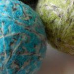 Celebration Day #10 Set of 2 Dryer Balls from Salt Air Studio