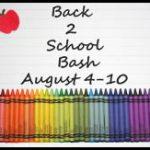 Back 2 School Bash Blogger Signups!