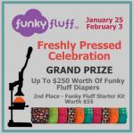 Funky Fluff Freshly Pressed Celebration Grand Prize