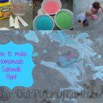 How to make homemade sidewalk paint