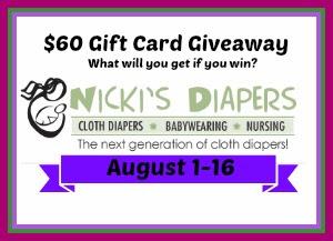 Nicki's Diapers Giveaway
