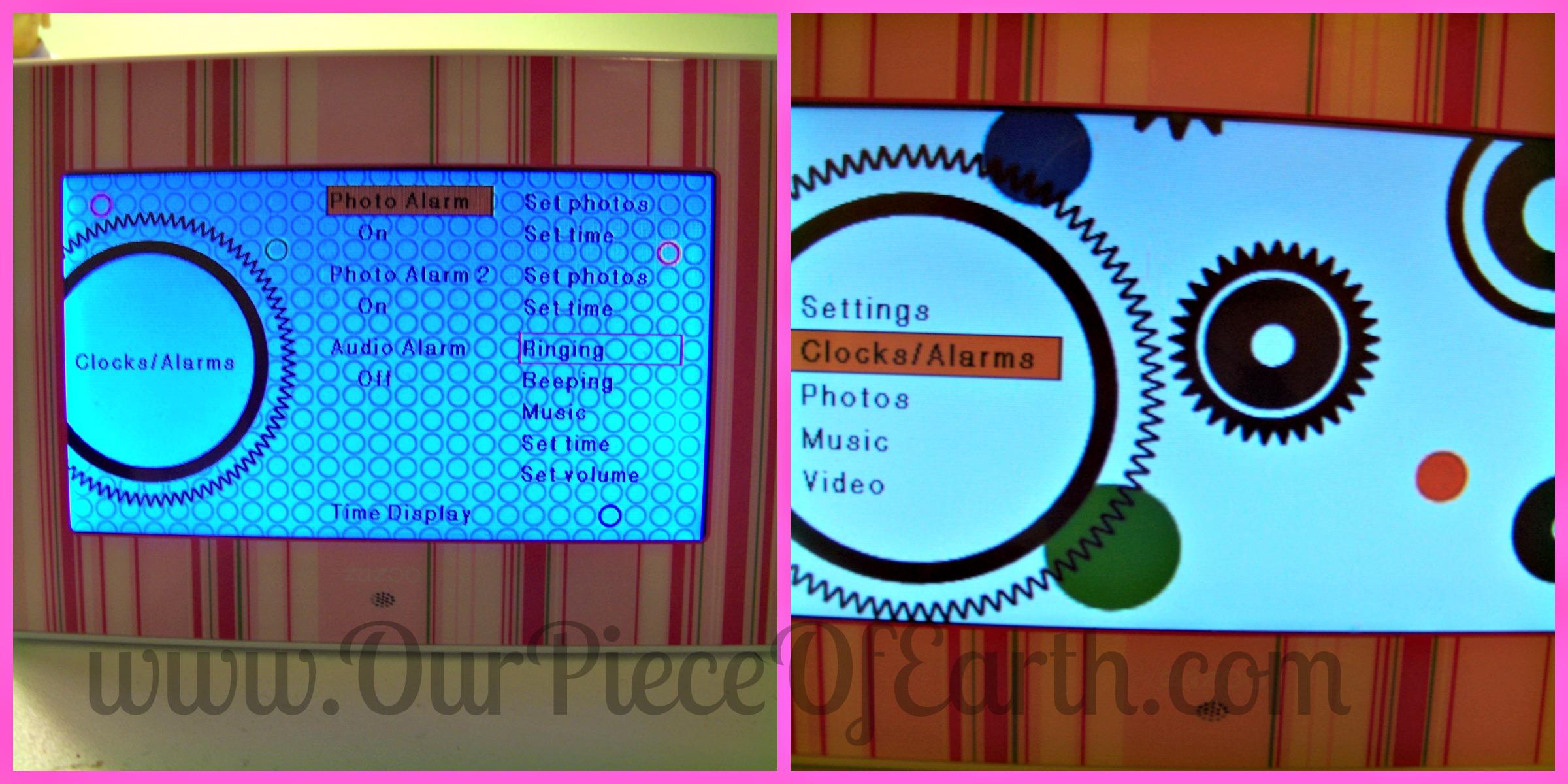 Zazoo photo alarm clock, digital picture frame, alarm clock