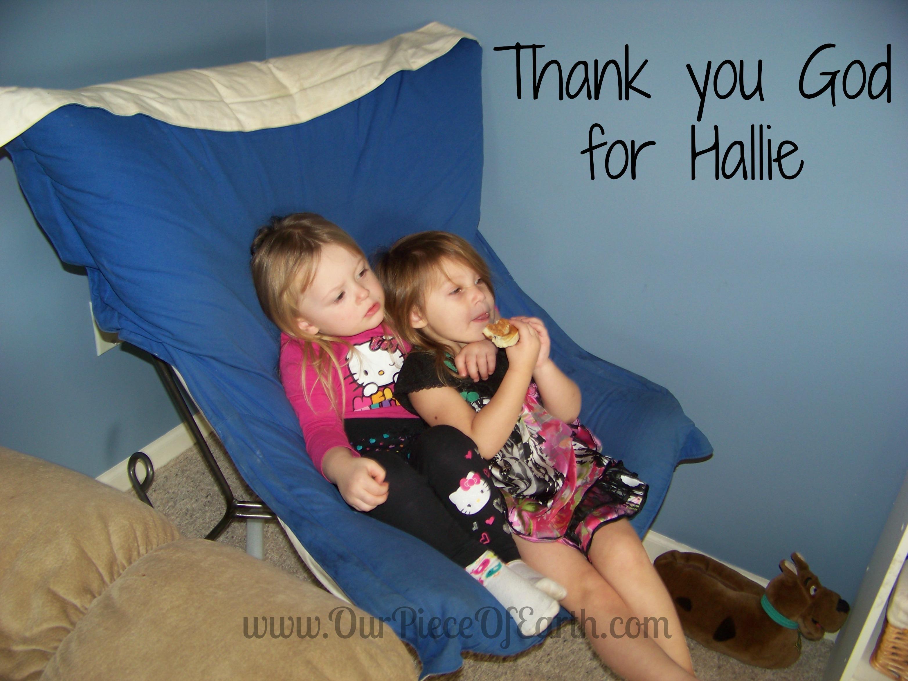 Thank you God for Hallie