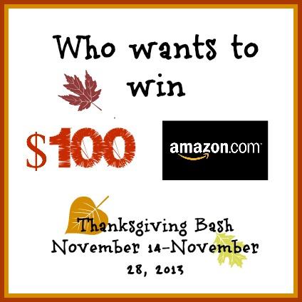 Thanksgiving Bash $100 Amazon gift card