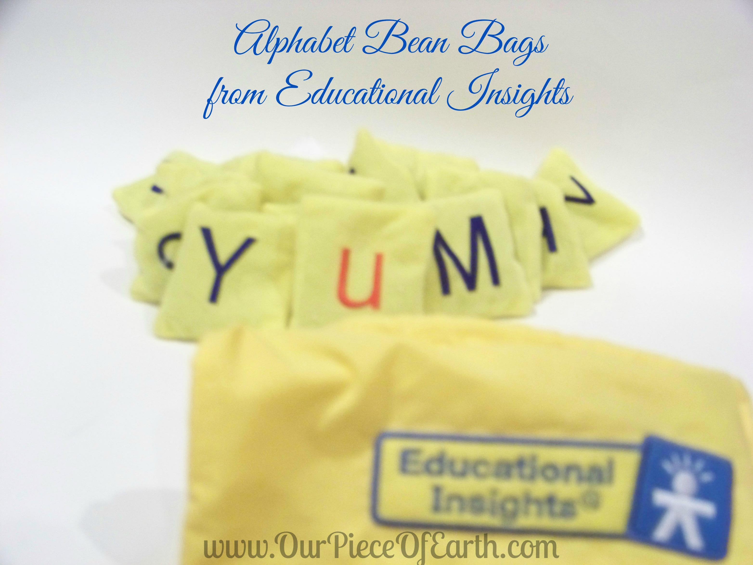 Alphabet bean bags, Educational Insights