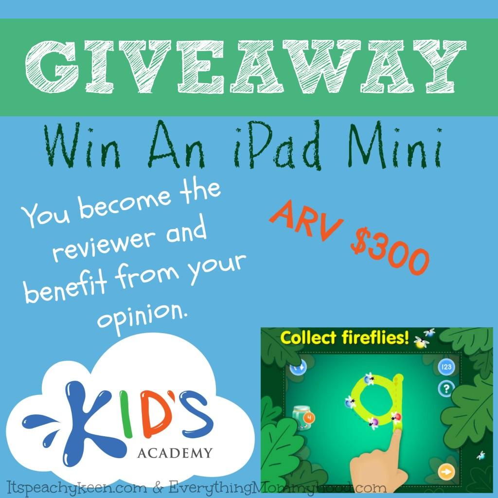 iPad Mini Giveaway, Kids Academy