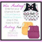 #Win an Audrey #clothdiaper !