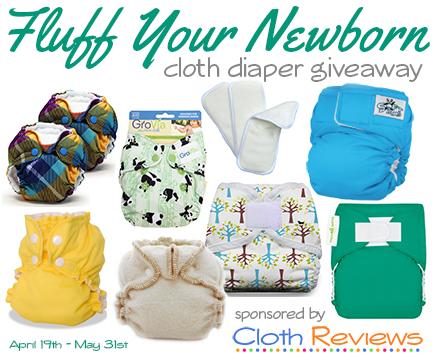 Fluff Your Newborn cloth diaper giveaway