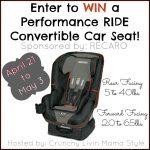 #Win a RECARO Performance Ride Car Seat