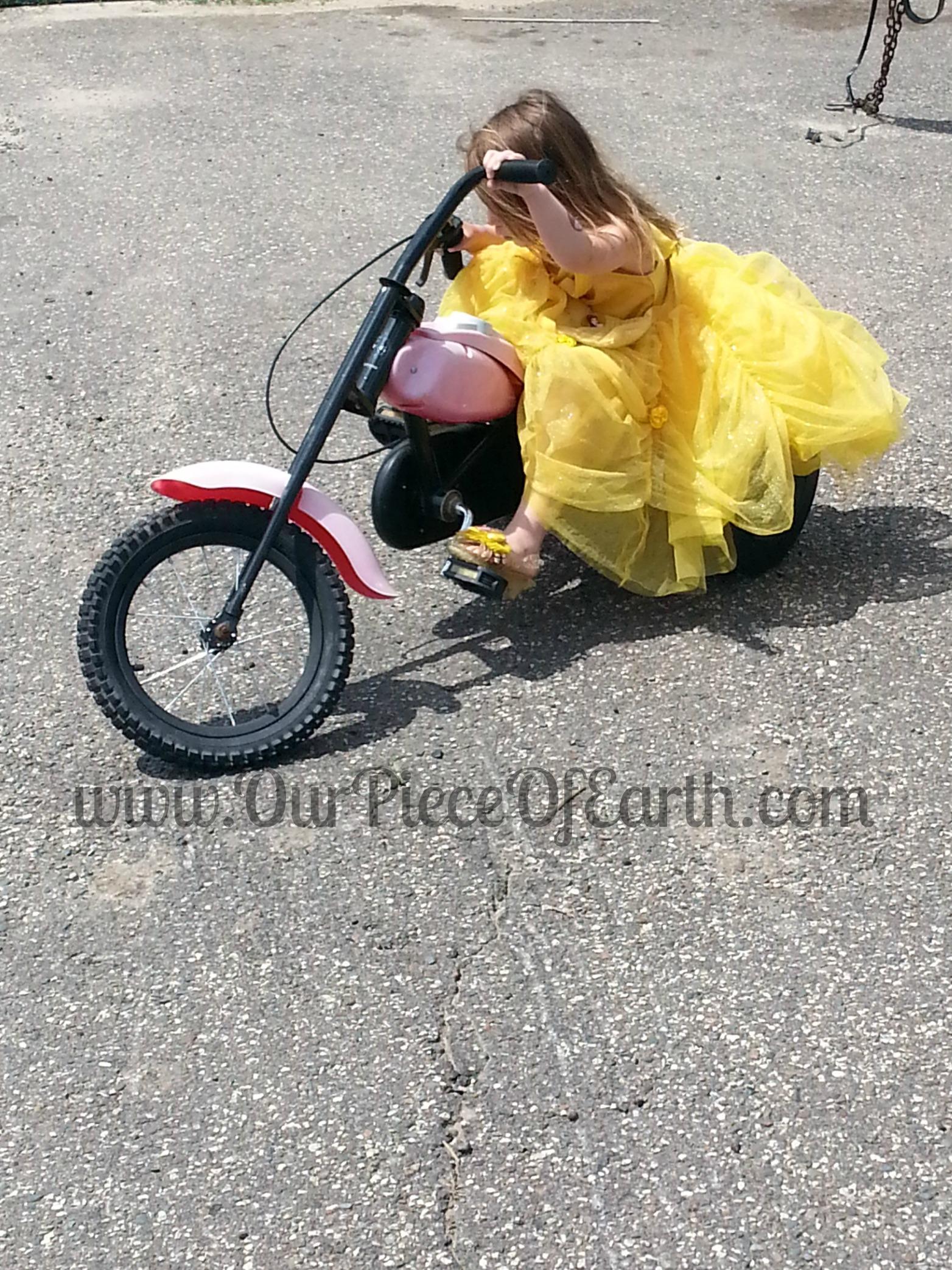 Maggie on Chopper Trike