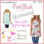 $40 Pink Blush #Maternity #Giveaway