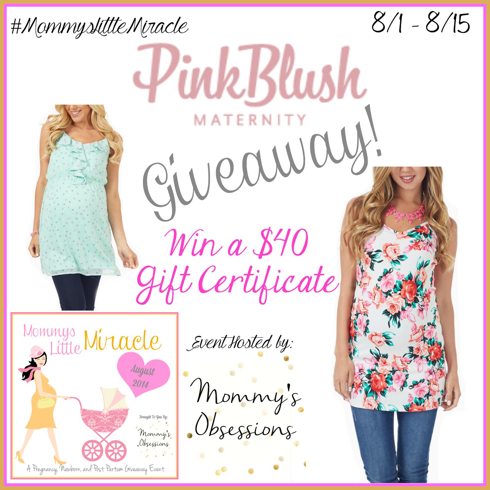 Pink Blush Maternity Giveaway