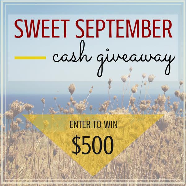 $500 Sweet September Cash #Giveaway