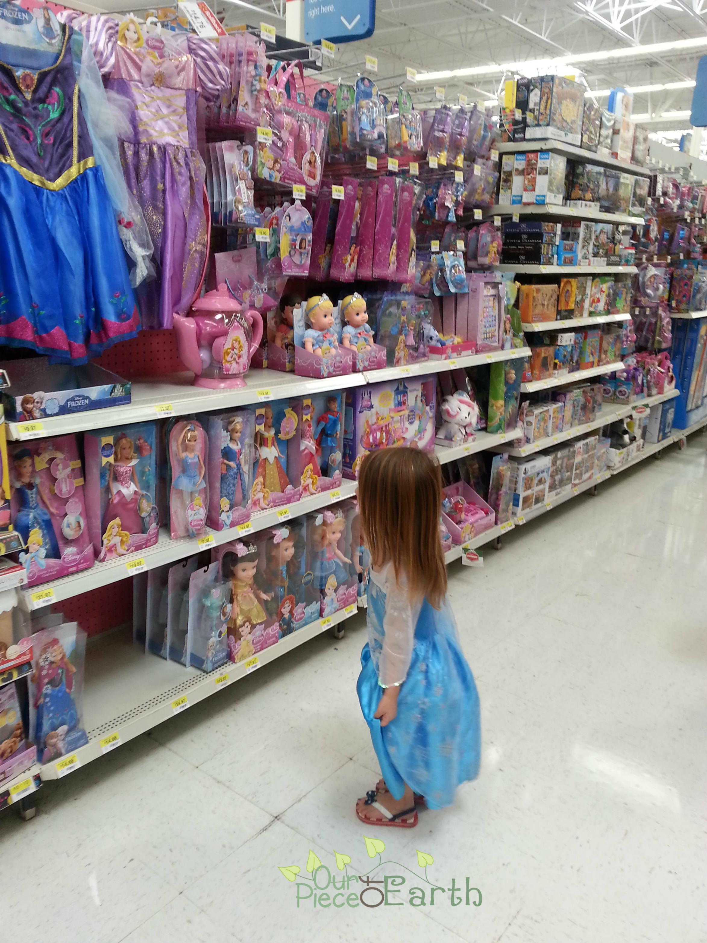 Maggie in princess aisle
