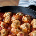 Paleo – Turkey-Bacon Meatballs with Tomato Sauce