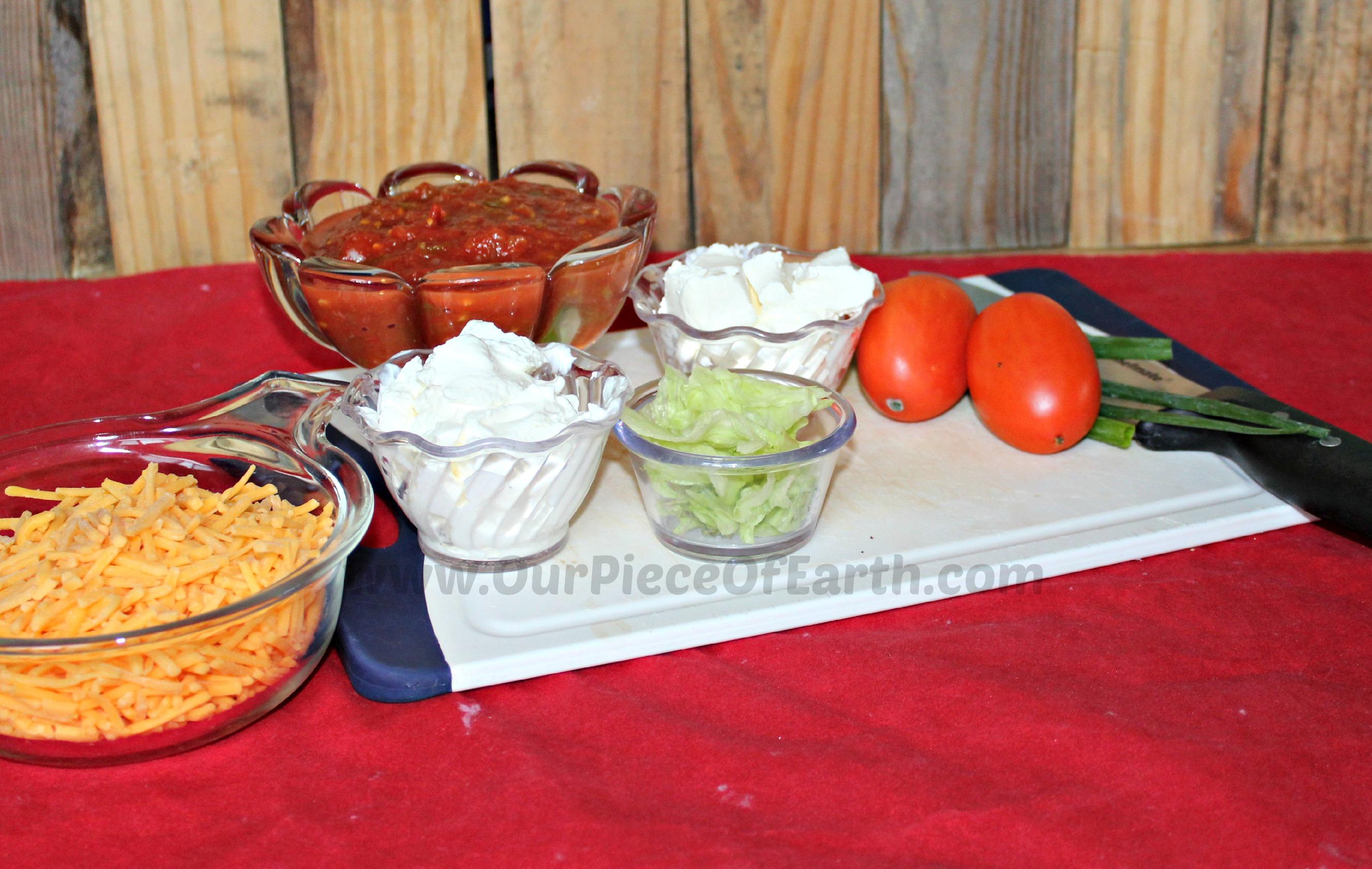 Fiesta Dip Ingredients