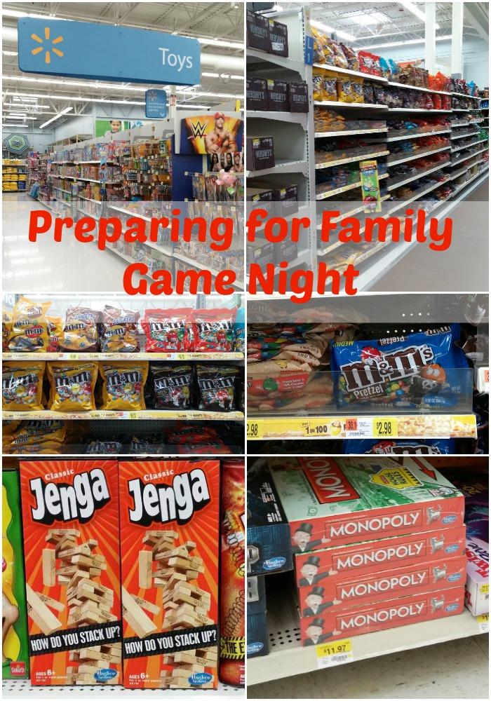 Preparing for Family Game Night