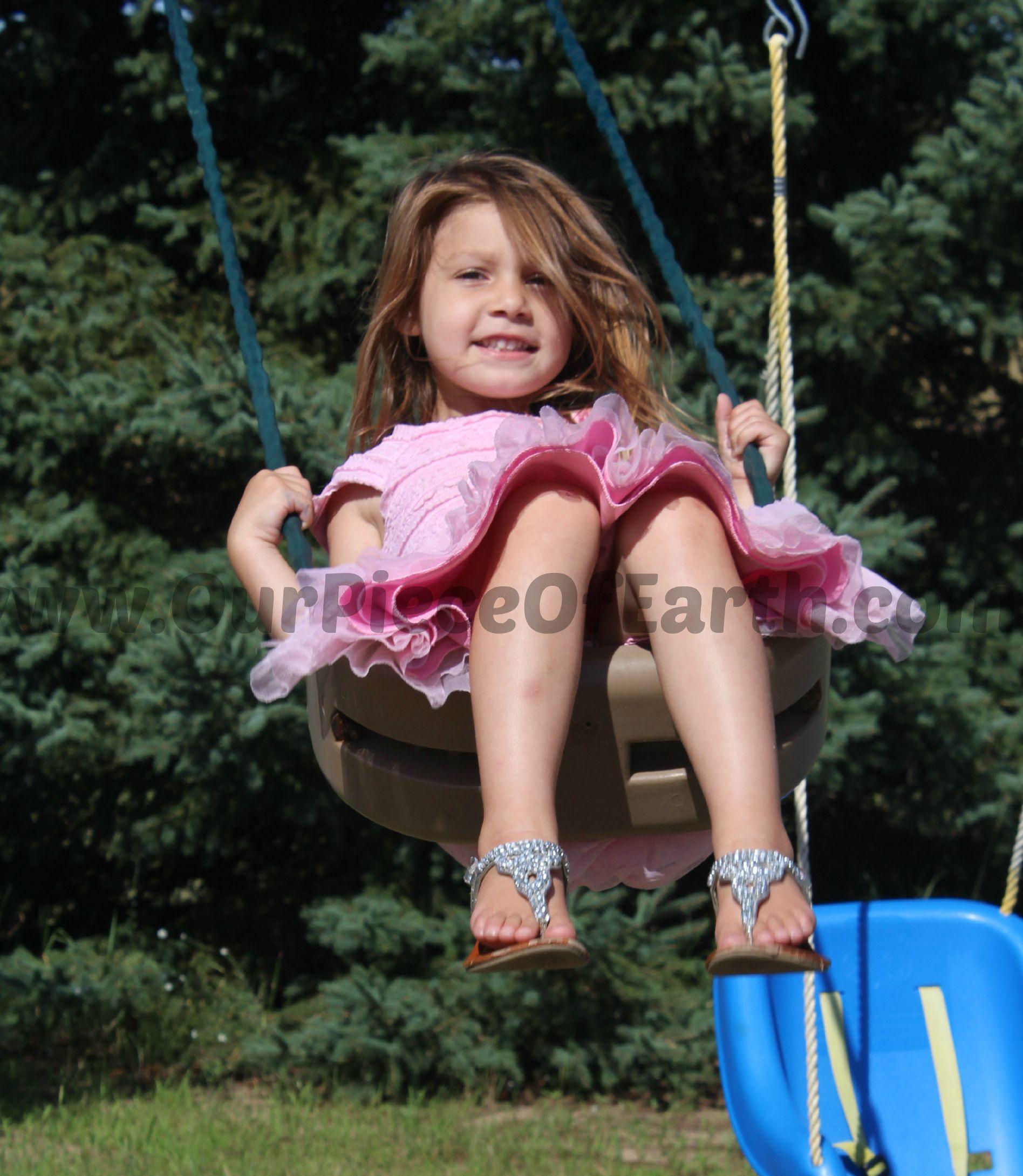 Maggie swinging