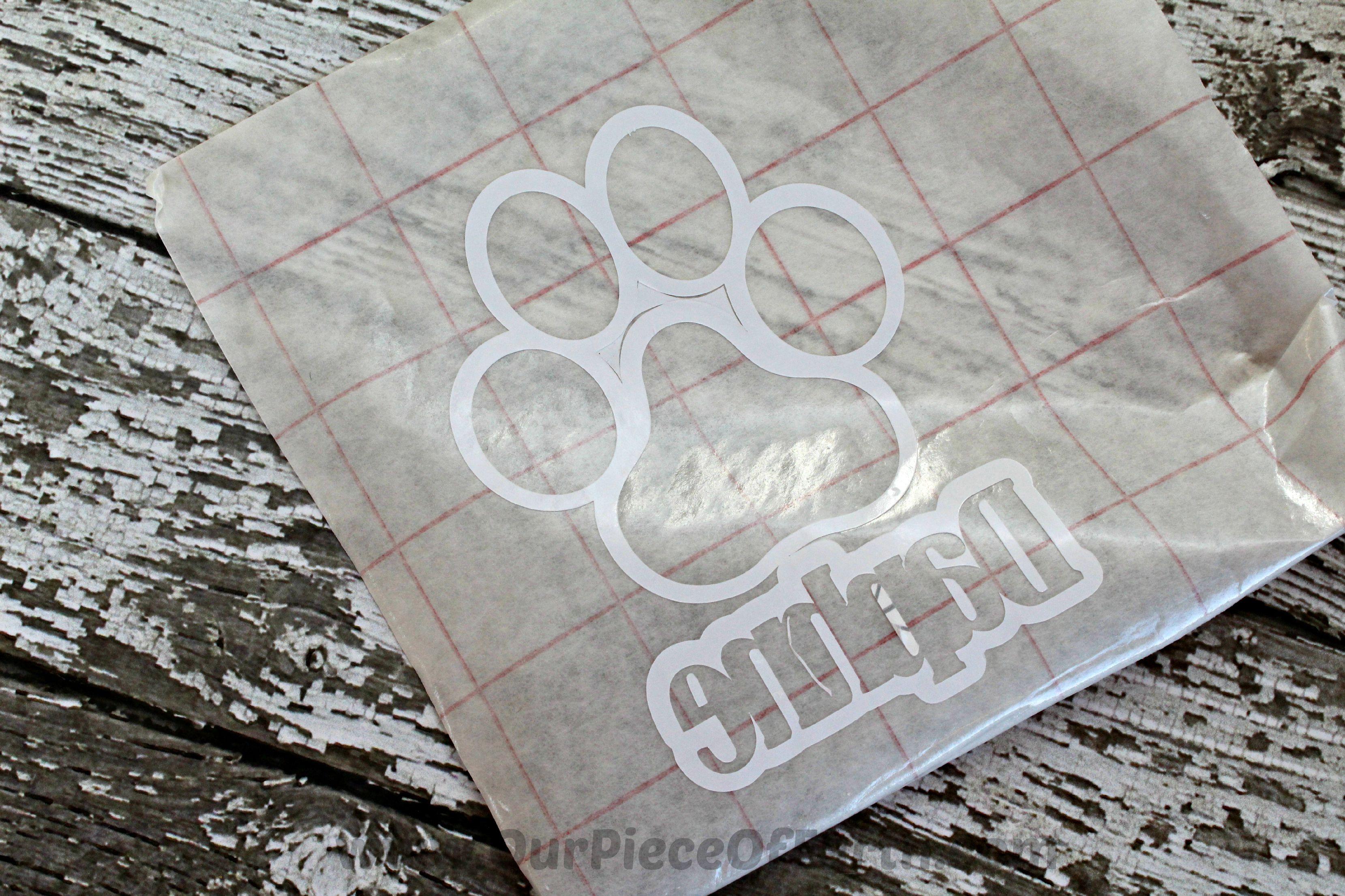 Paw Print Vinyl Transfer
