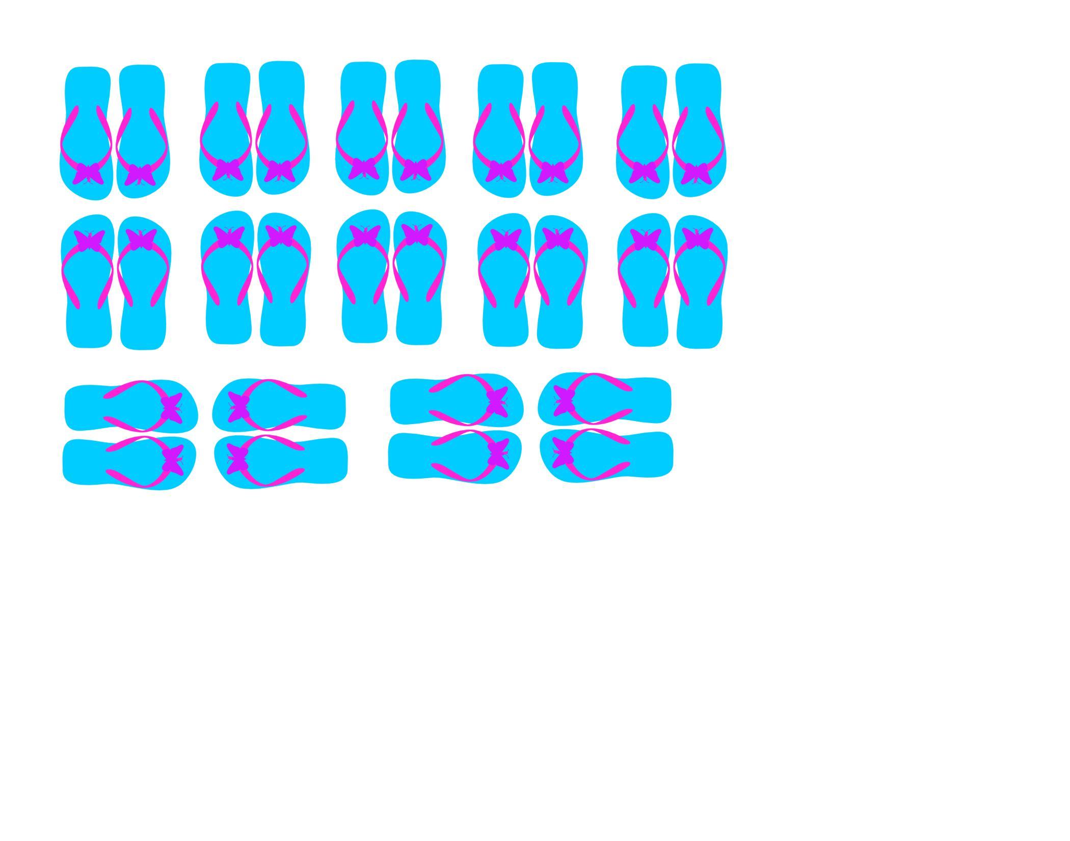 FREE blue flip flop cupcake topper printable