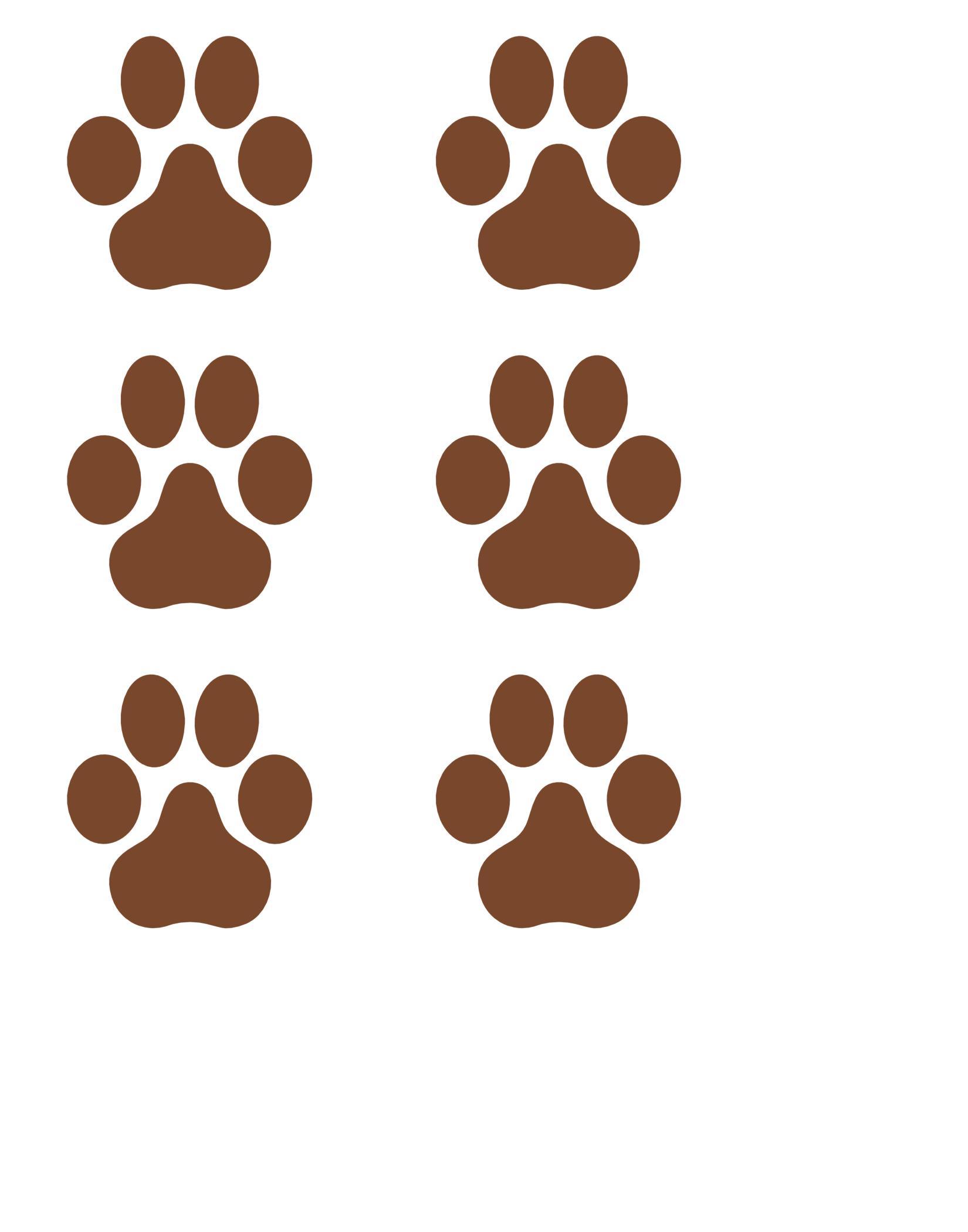 FREE puppy paw prints printable