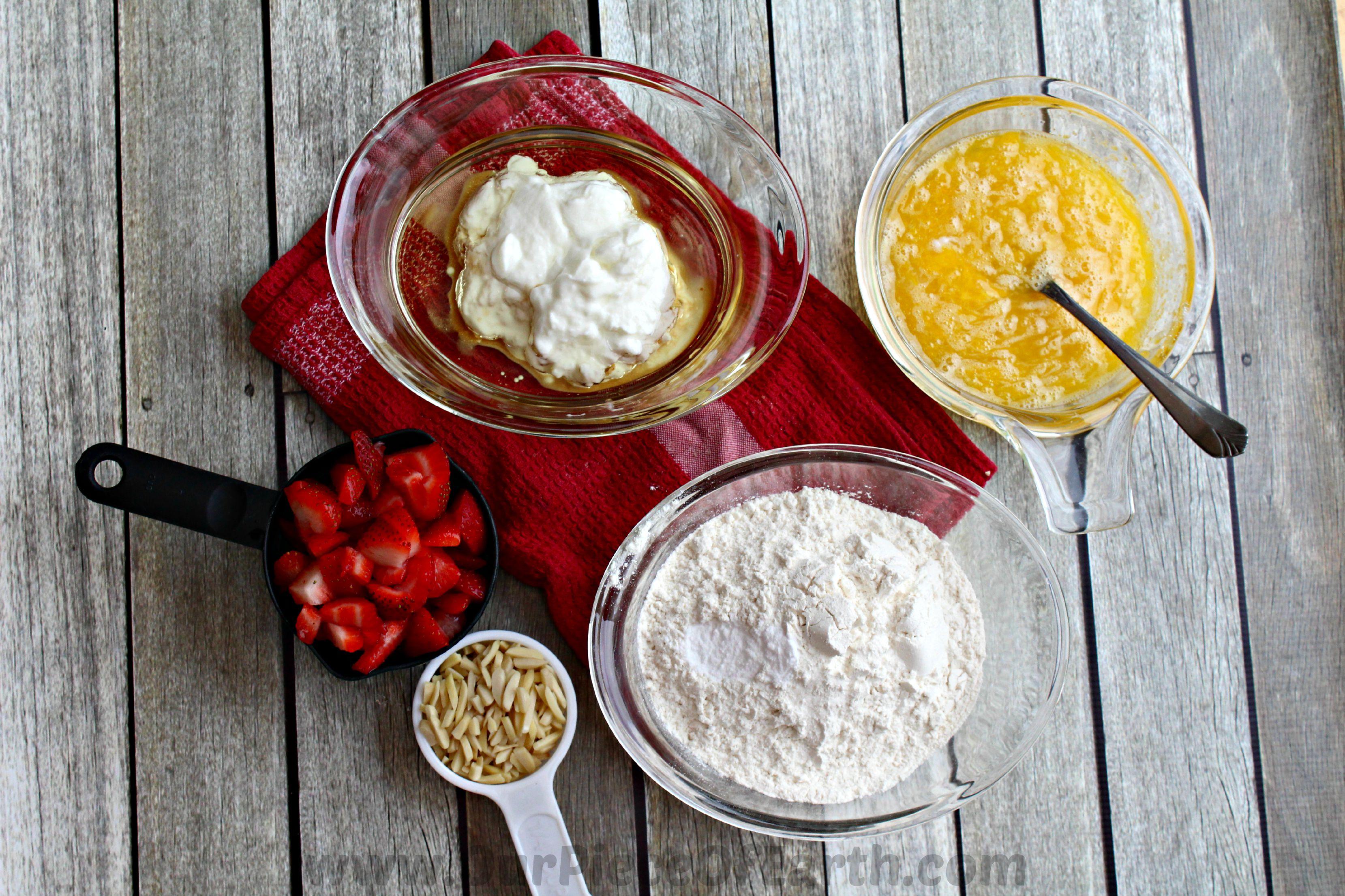 Ingredients Strawberry Almond Streusel Muffins