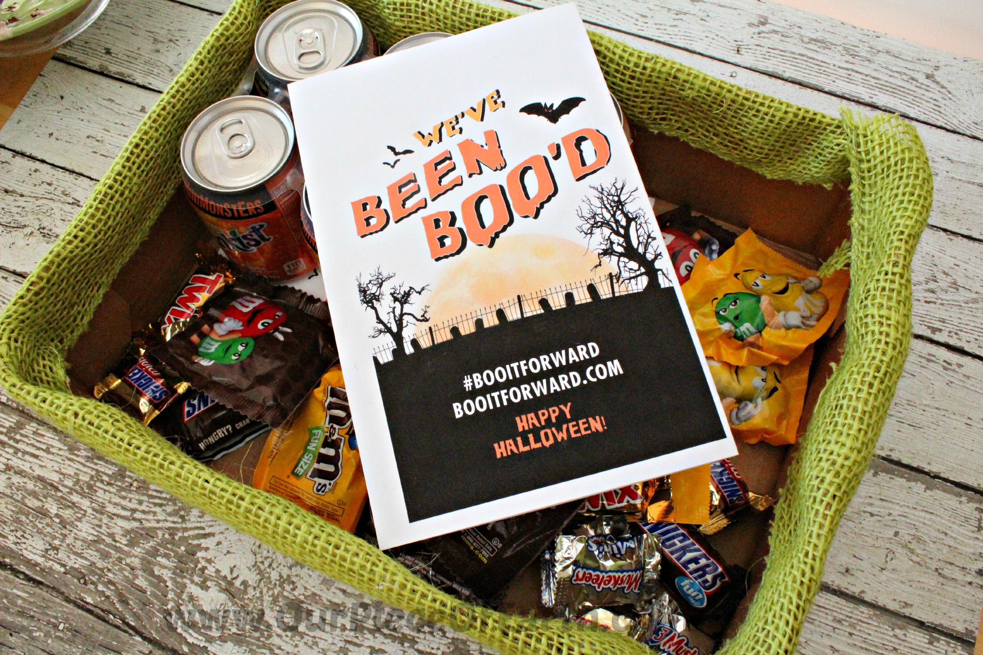 Halloween gift idea. We've been BOO'd #BOOItForward