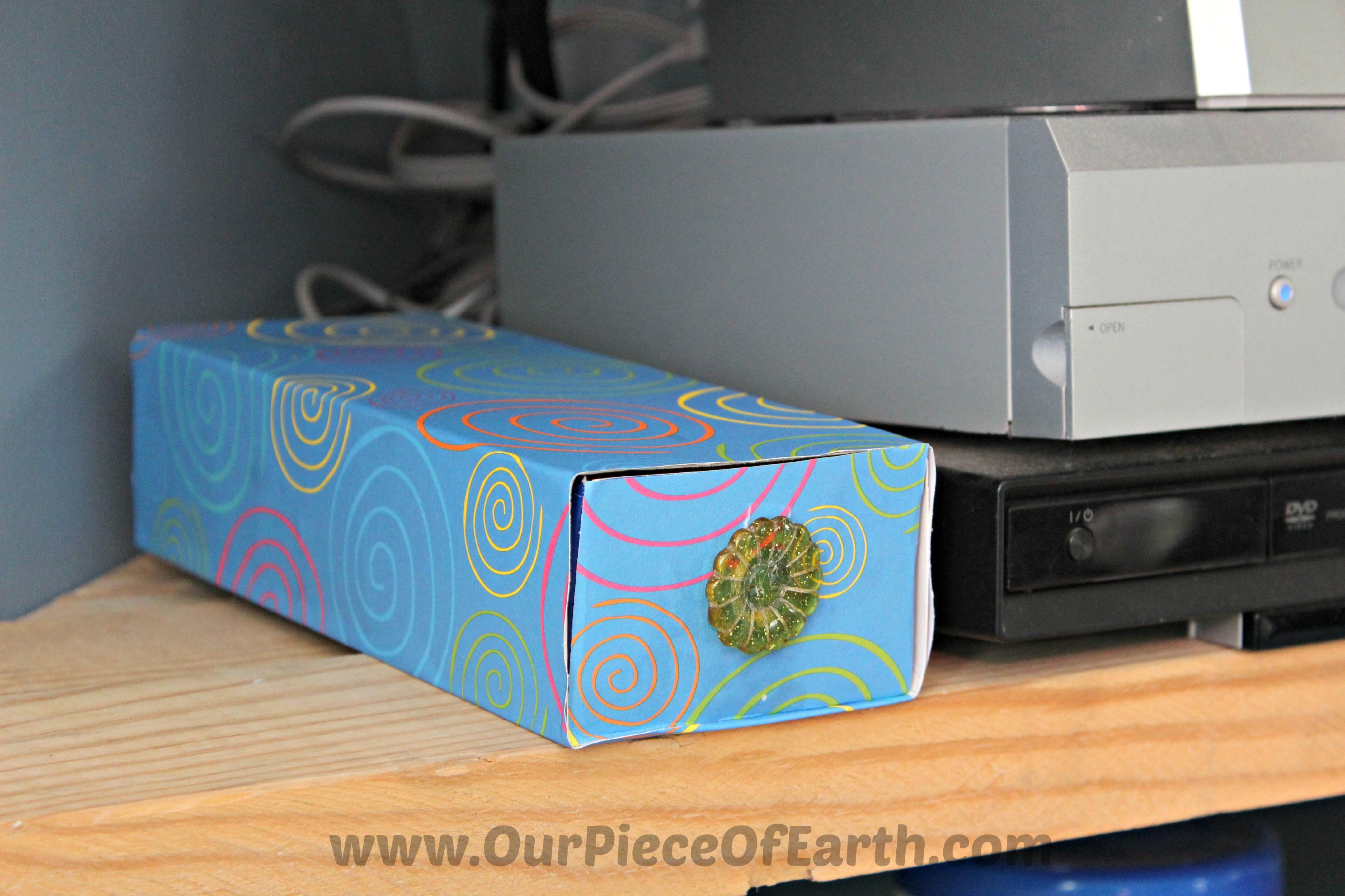 Battery box on shelf