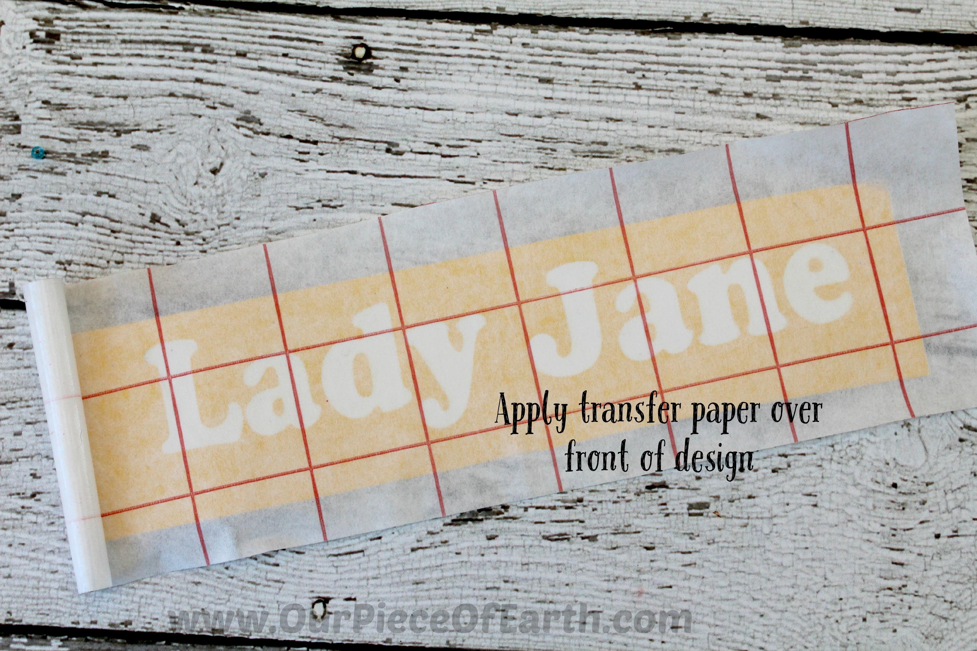 Transfer paper over design