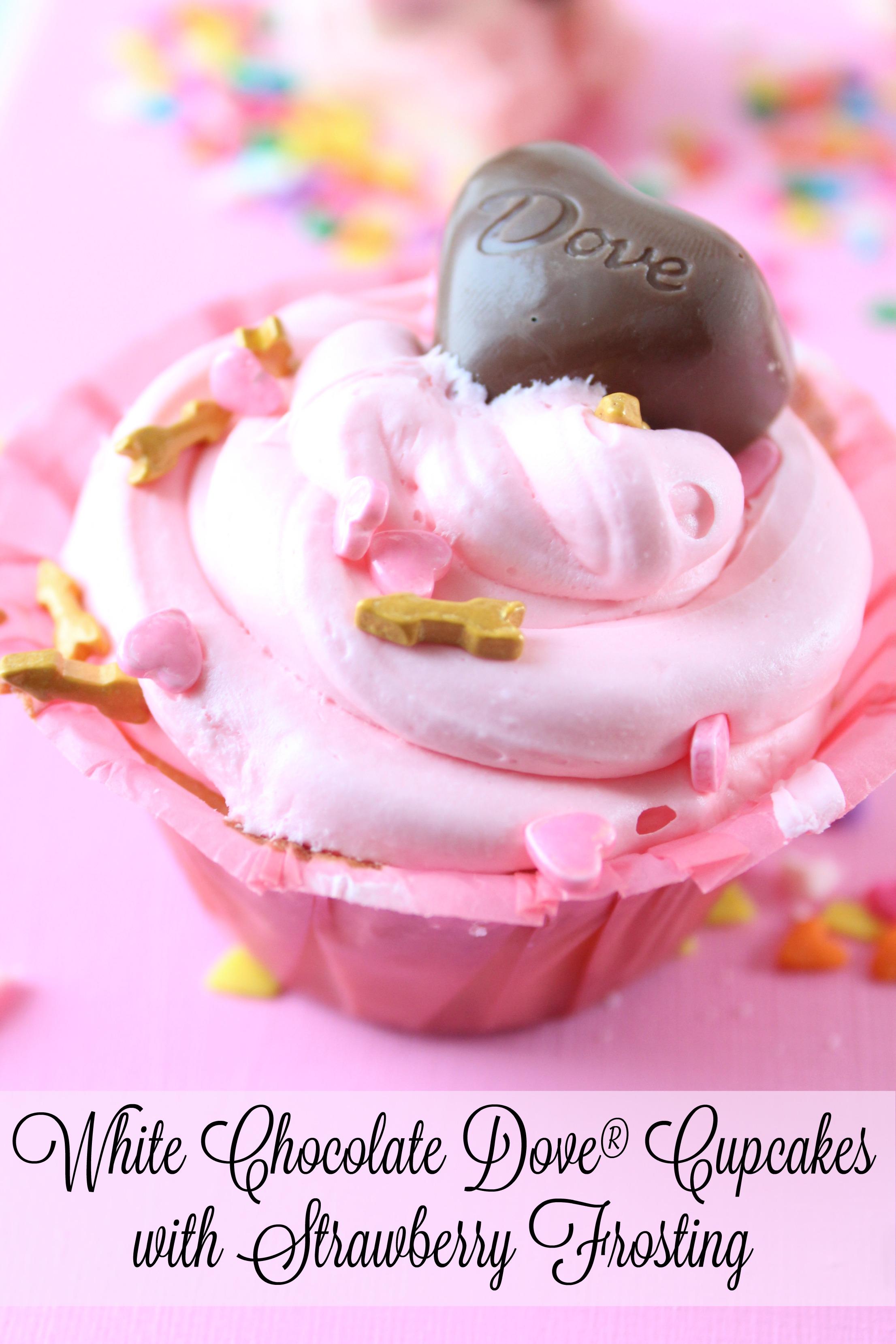 White Chocolate Dove® Cupcake Surprise Recipe for Valentine's Day