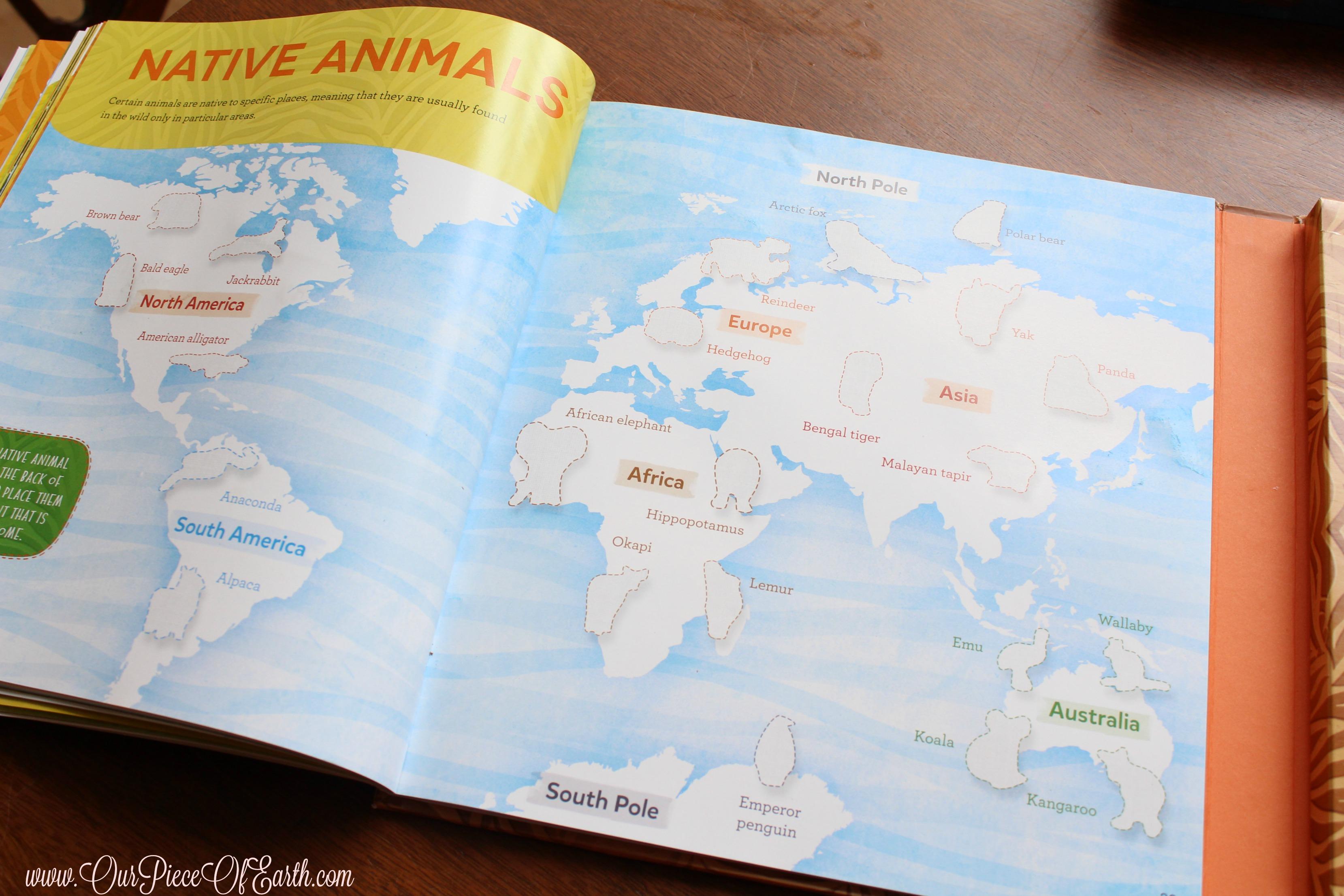 Native animals sticker book