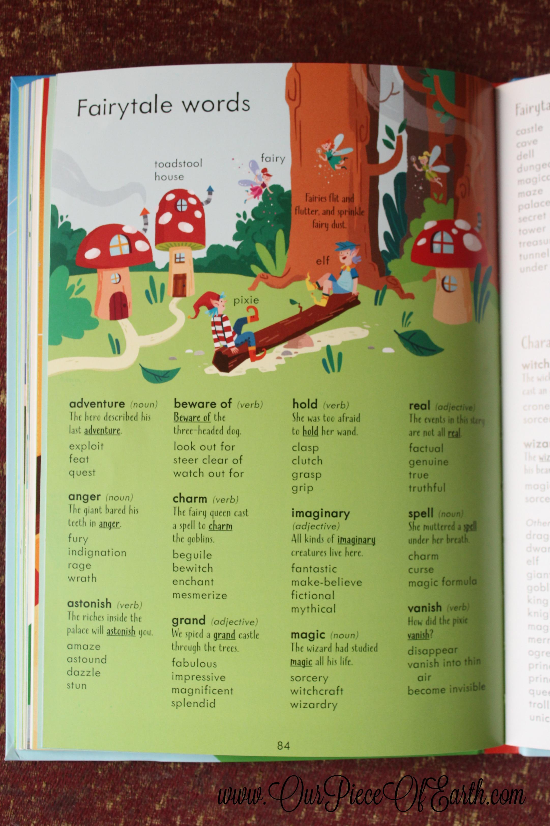 Usborne Books Not Your Everyday Illustrated Thesaurus