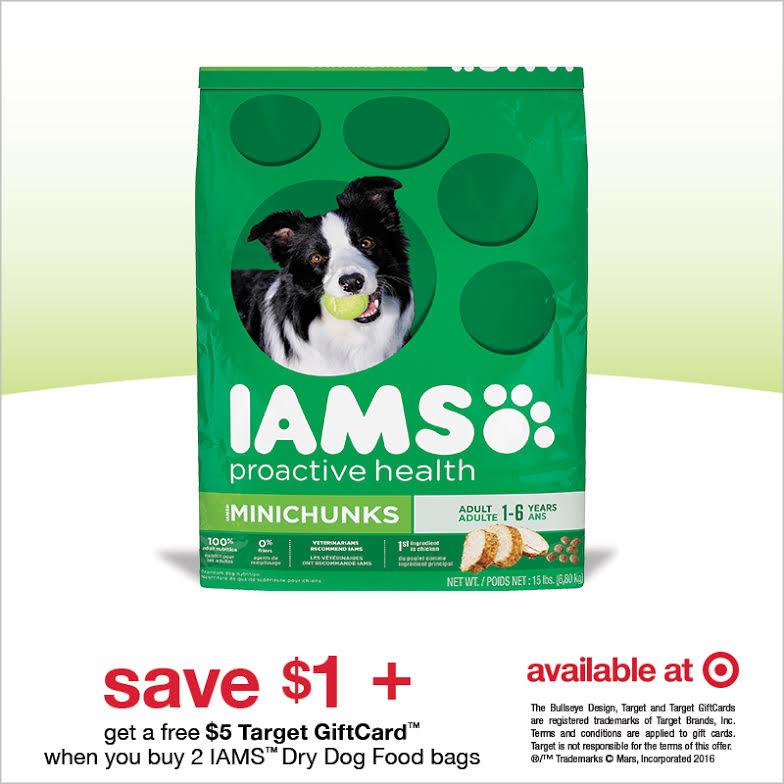 Save on IAMS Dog Food
