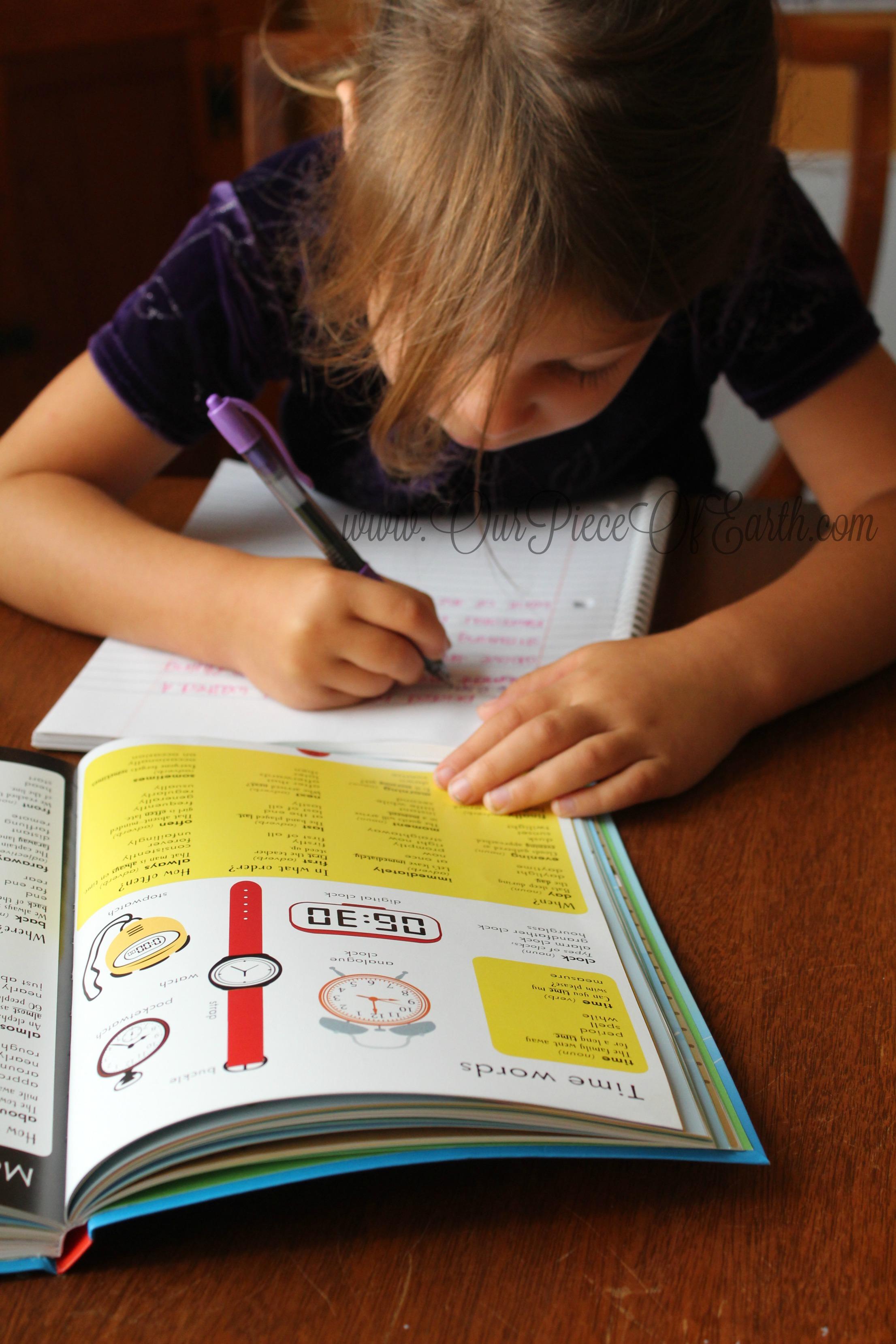 Maggie using Thesaurus