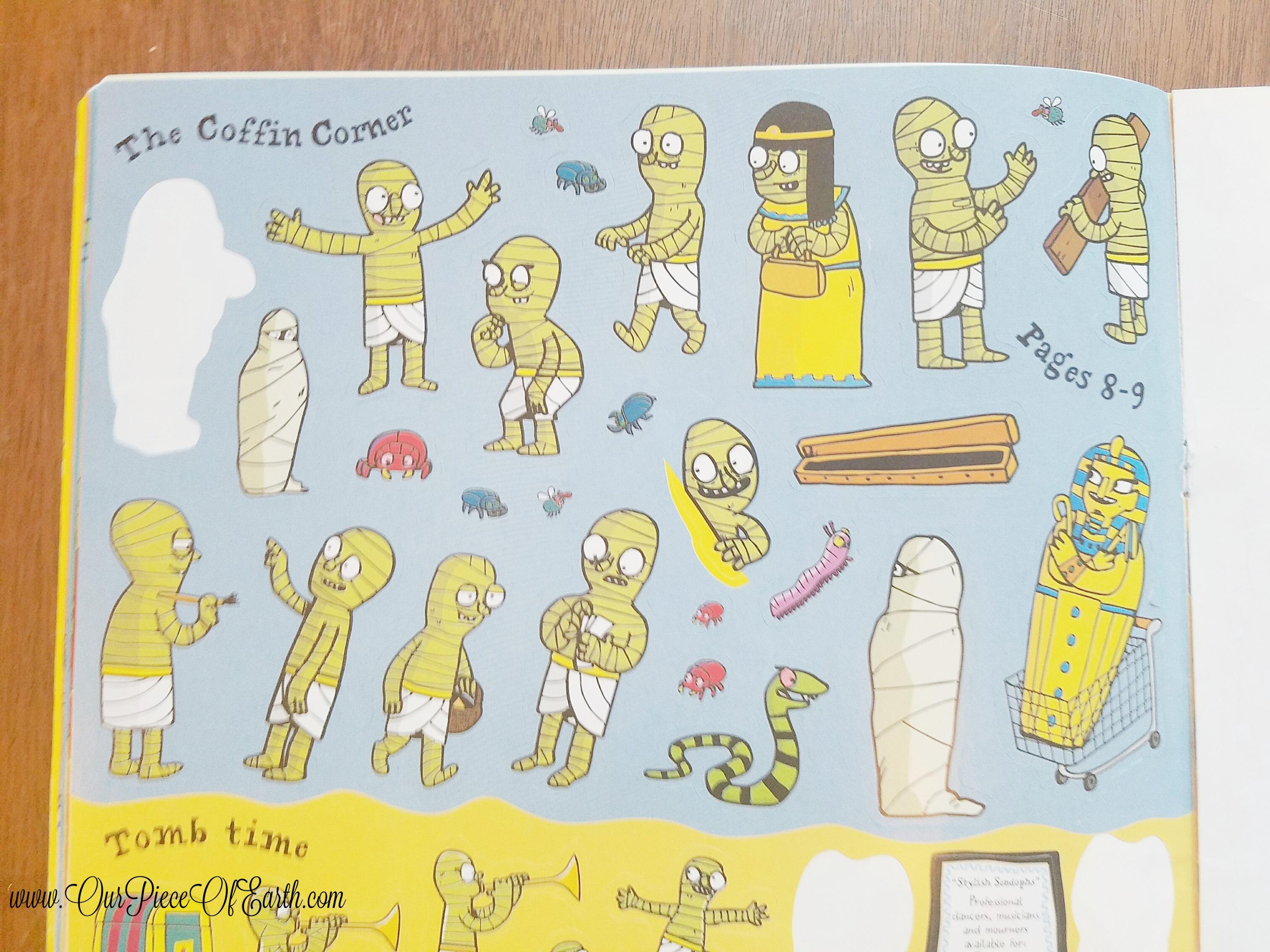 Usborne Egyptian Mummies Sticker Book