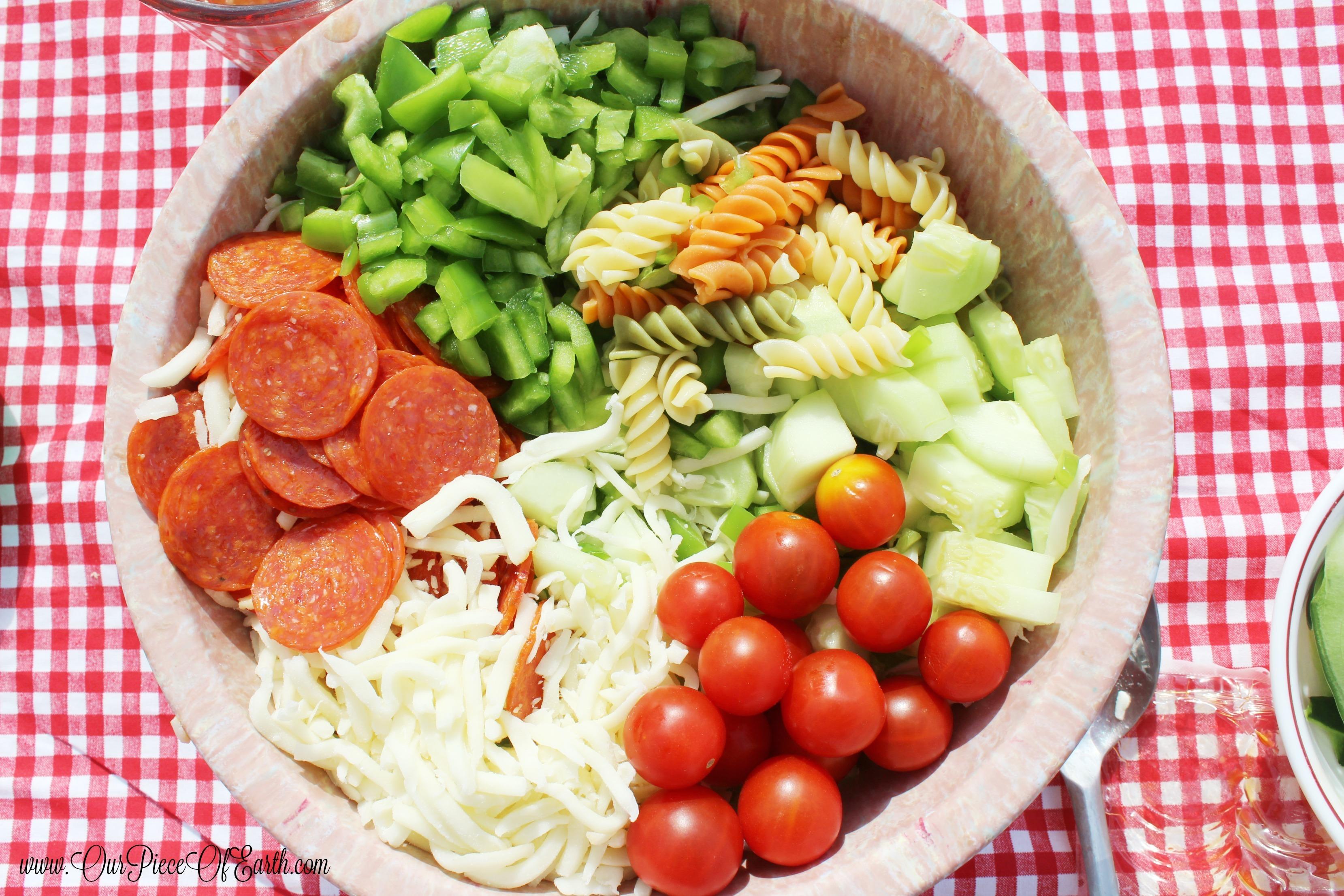 The Best Garden Fresh Pasta Salad Ever