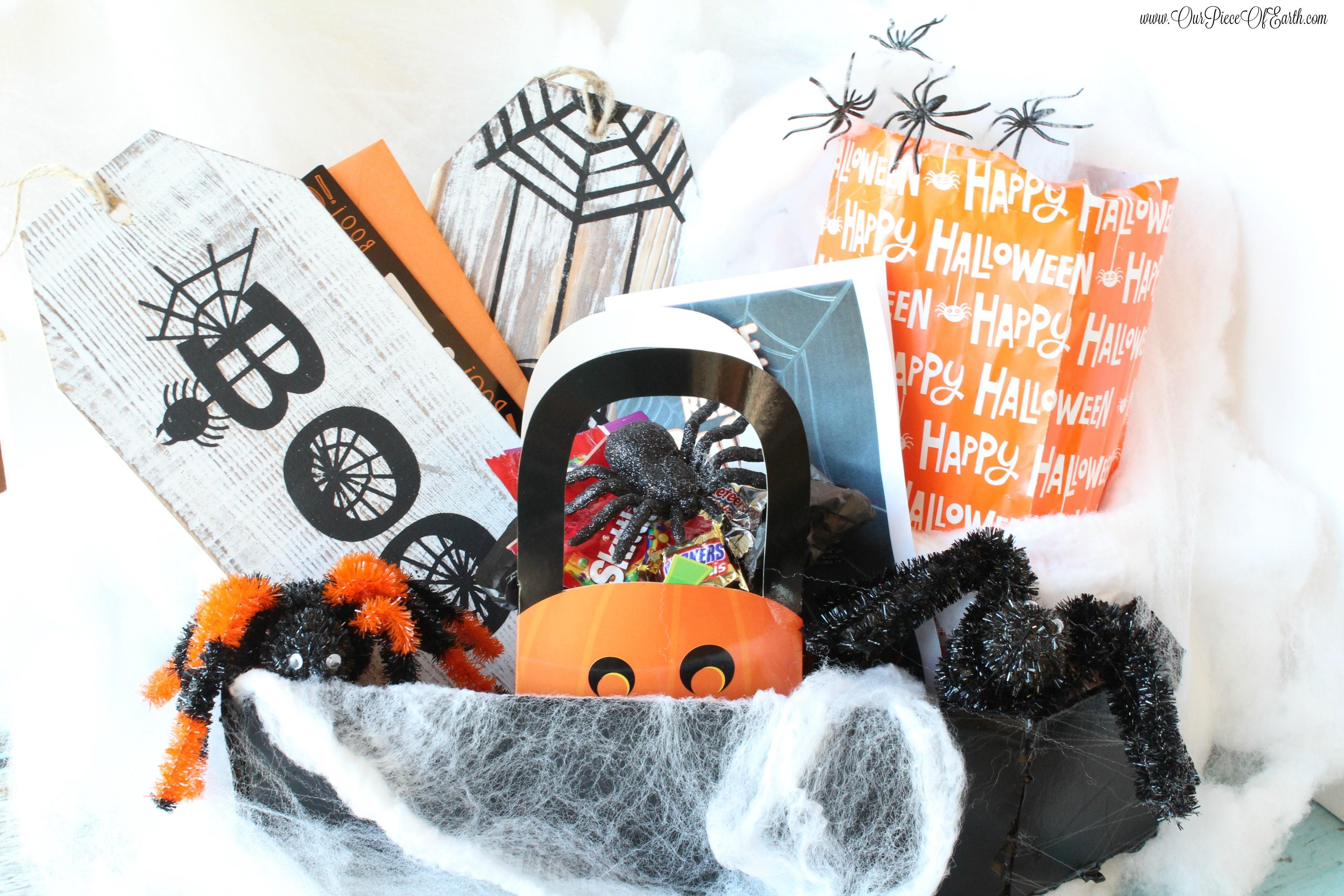 DIY Halloween BOO Kit in a Coffin Box