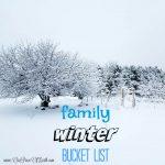 Family Winter {Outdoor} Bucket List
