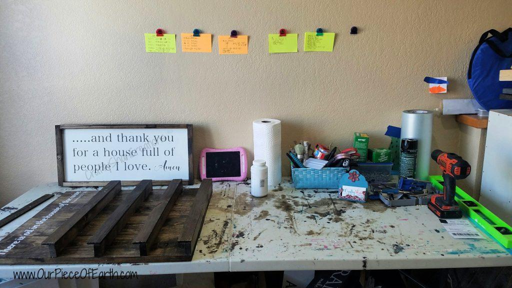 My craft business workspace