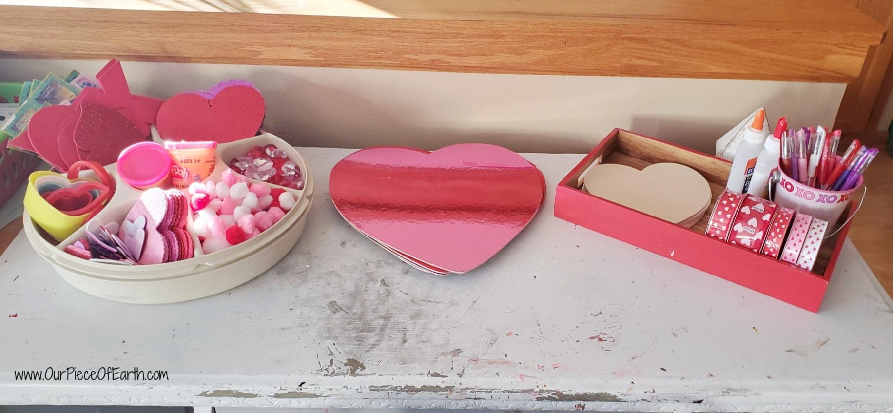 Valentine's Sensory play, Valentine's Art Area, Valentine's Writing Center